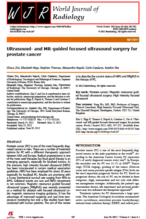 Ultrasound- and MR-guided focused ultrasound surgery for prostate cancer