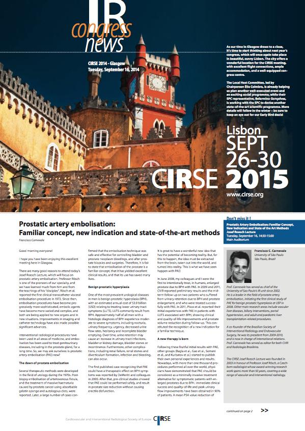 CIRSE 2014: MR-guided HIFU and bone lesions